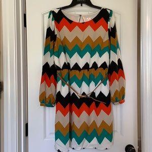 Xhilaration chevron dress. Size XL.